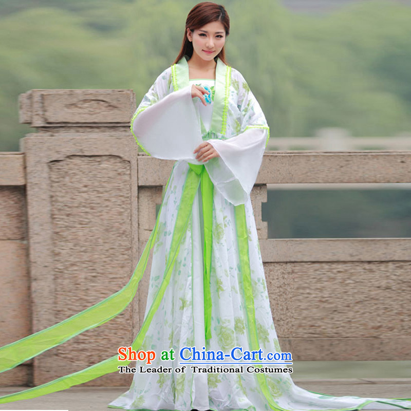 Time Syrian costume clothing fairies skirt gliding fairies photo building Photo Album 7 You can multi-select attributes by using the Tang dynasty princess fairies skirt classical Han-Gwi-clothing will Grass green