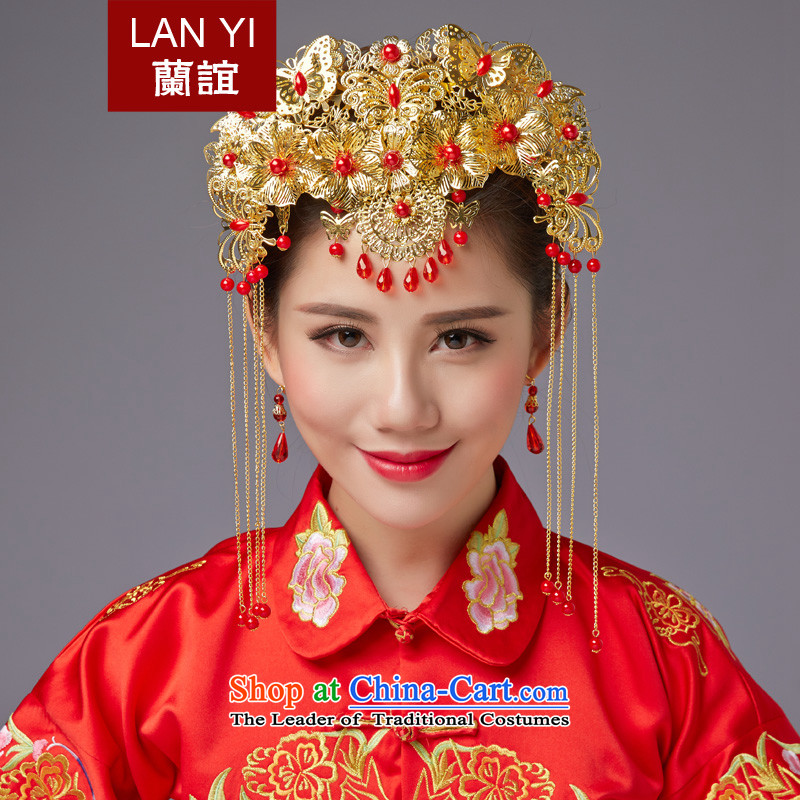 The Friends of ancient headdress edging CHINESE CHEONGSAM FUNG Sau Wo Service Classic Champion Accessories Red Head Ornaments marriages jewelry autumn New Products