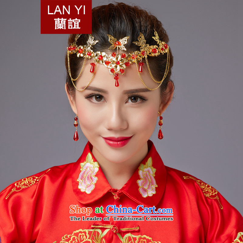 The Friends of ancient headdress edging CHINESE CHEONGSAM FUNG Sau Wo Service Classic Champion Accessories Red Head Ornaments marriages ornaments Picture Color