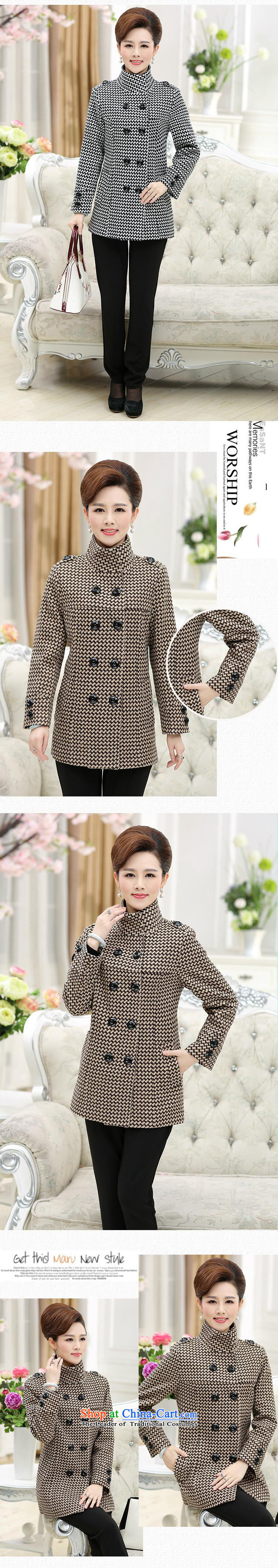 Orange Tysan* women older wool coat middle-aged moms load? winter clothing a windbreaker Thick Long autumn in winter coats brown聽XXXL picture, prices, brand platters! The elections are supplied in the national character of distribution, so action, buy now enjoy more preferential! As soon as possible.