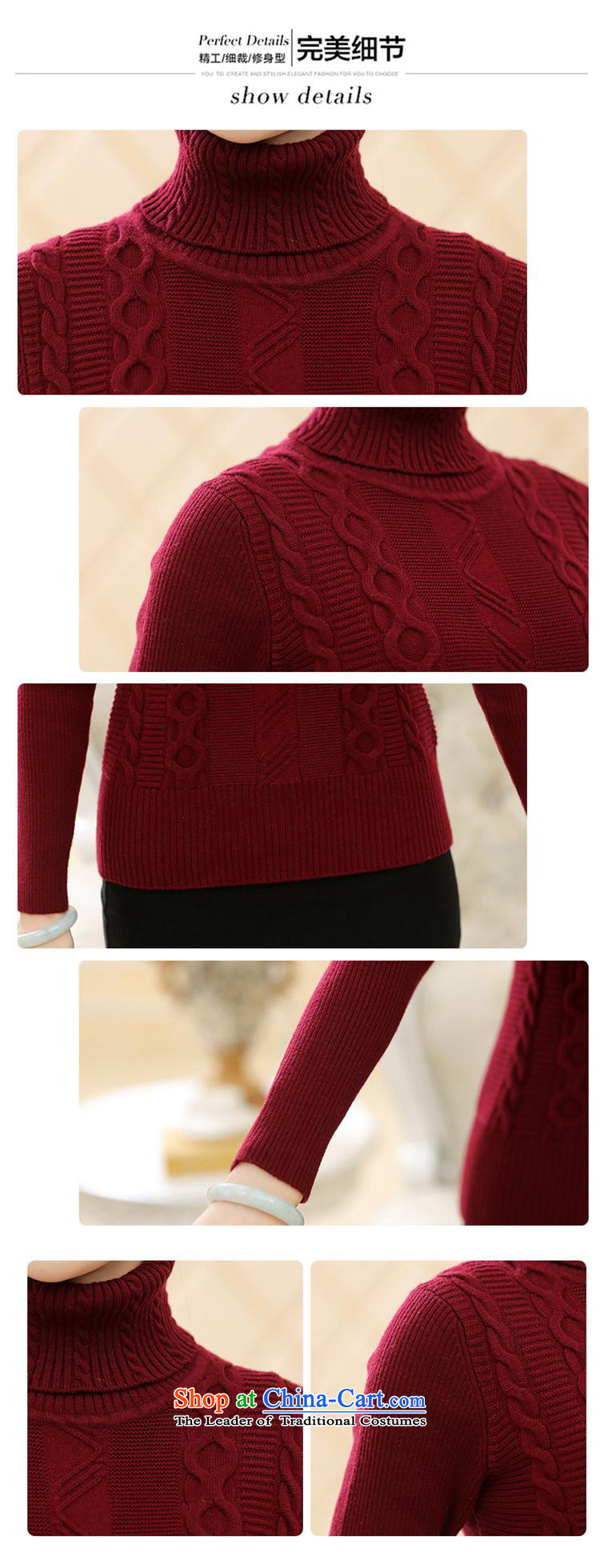 Orange Tysan * new middle-aged female winter clothing long-sleeved sweater MOM pack trendy Sau San code Solid Color High-collar, forming the woolen sweater black 115 pictures, prices, brand platters! The elections are supplied in the national character of distribution, so action, buy now enjoy more preferential! As soon as possible.