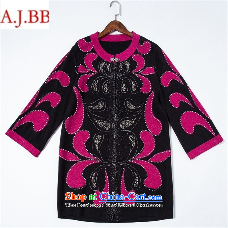 Orange Tysan *2015 autumn and winter new MOM pack ironing drill in older relaxd Knitted Shirt in large long coats of red聽125,A.J.BB,,, sweater shopping on the Internet