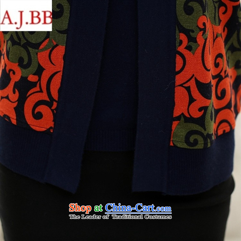 Orange Tysan * autumn in new long-sleeved replacing older women's stylish middle-aged moms with really two long-sleeved jacket of stamp Knitted Shirt red聽125,A.J.BB,,, shopping on the Internet