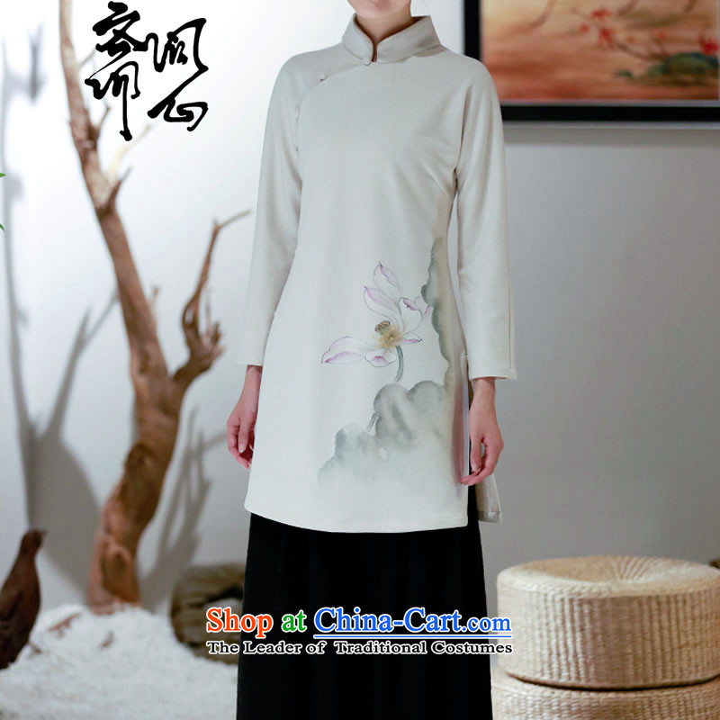 Ask the heart of Ramadan (MING HEART HEALTH women fall of Chinese simple clip round-neck disc forming the Netherlands 2697 White聽M Q heart of Ramadan , , , shopping on the Internet