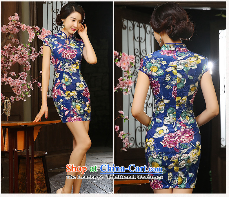 The cross-sa rainy night flowercheongsam dress autumn 2015 scouring pads with short, retro style qipao Ms. autumn improved cheongsam dressZA9804picture colorS picture, prices, brand platters! The elections are supplied in the national character of distribution, so action, buy now enjoy more preferential! As soon as possible.