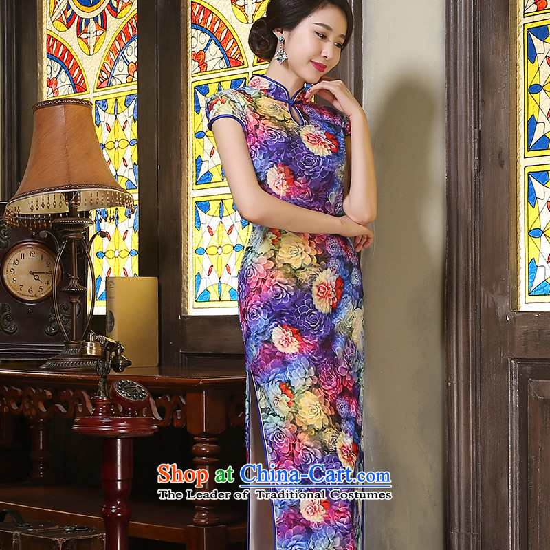 The cheer her flowers Mau New Stylish retro qipao long wool improved qipao autumn long), Ms. qipao gown聽ZA9805聽picture color聽S, improve cross-sa , , , shopping on the Internet