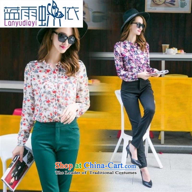 Ya-ting shop 2015 Autumn new for women in Europe temperament video thin two piece black燲XL