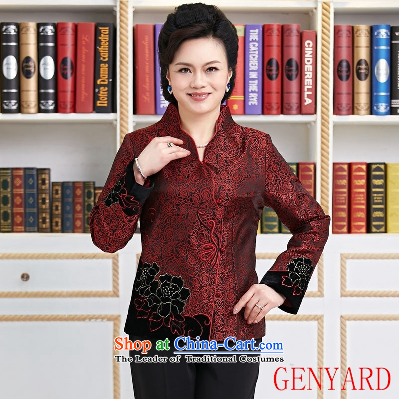 The elderly in the new paragraph GENYARD Ms. Chinese Tang dynasty improvement during the spring and autumn mother Tang Red�XXL