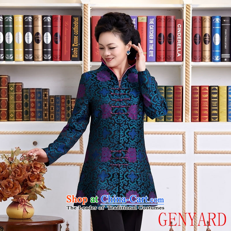 The elderly in new GENYARD Sau San Tong in long-Tang dynasty during the spring and autumn Tang blue?XXL