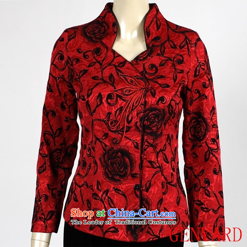 In the number of older women's GENYARD Chun Tang dynasty jacket girl mothers spring new women's Red 4X