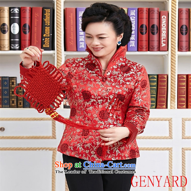 The elderly in new GENYARD Tang Dynasty, Tang Dynasty Chinese Ms. Tang dynasty improved dual need to come to grips for Tang Red L,GENYARD,,, shopping on the Internet