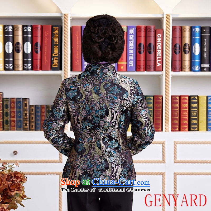 The elderly in accordance with tang GENYARD Yung-chun tang blouses jacket, black XXXL,GENYARD,,, Tang shopping on the Internet