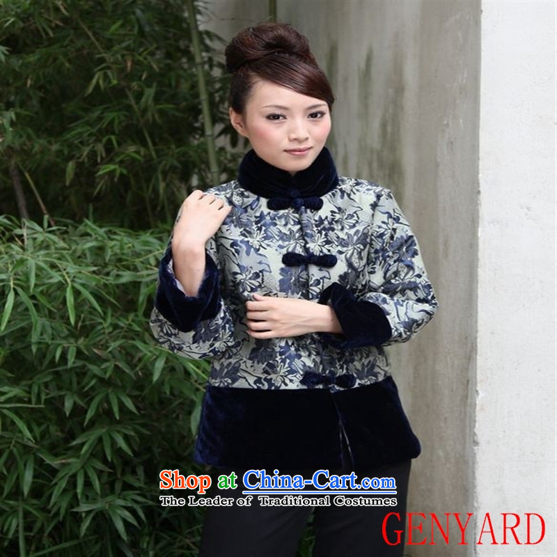 The elderly in the Tang dynasty GENYARD stylish Ms. Tang dynasty winter coat cotton coat long-sleeved jacket mother autumn and winter cotton red燲XXXL