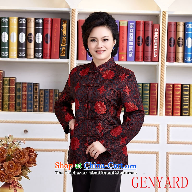 The elderly in the Tang dynasty GENYARD female Chinese national women's clothing casual wear costumes black�M