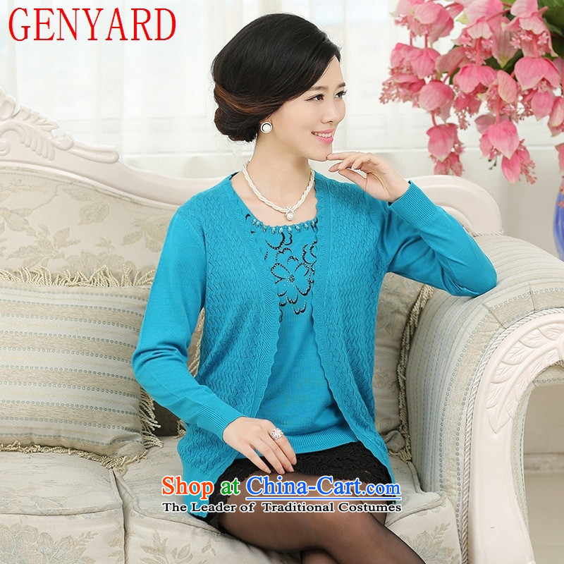 In the spring and autumn girls aged GENYARD2015 jackets of older persons long-sleeved loose a middle-aged man with two mother kit shirt orange M within one hundred catties