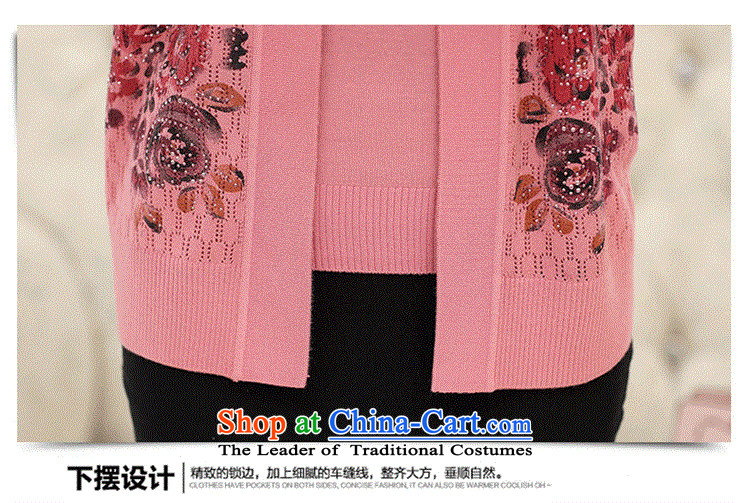 New moms load GENYARD 40-50 year really two kits for larger case load of autumn load older mother long-sleeved Knitted Shirt leather red聽M picture, prices, brand platters! The elections are supplied in the national character of distribution, so action, buy now enjoy more preferential! As soon as possible.