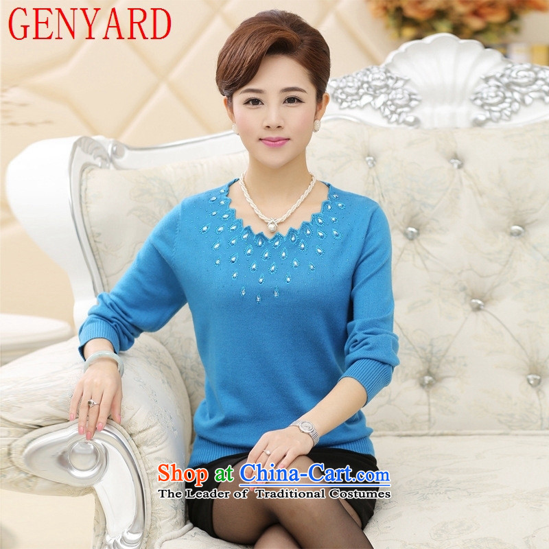 Load the autumn GENYARD mother in the knitwear, forming the load spring and autumn older Ms. shirt, woolen sweater Girl  middle-aged mother Red�L catty Paras. 135-145