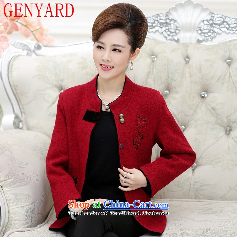 In the number of older women's GENYARD autumn gross? elderly people aged between 50-60 jacket Grandma Fall_Winter Collections mother replacing Tang jackets of purple?3XL_ recommendations 130-145 catties_