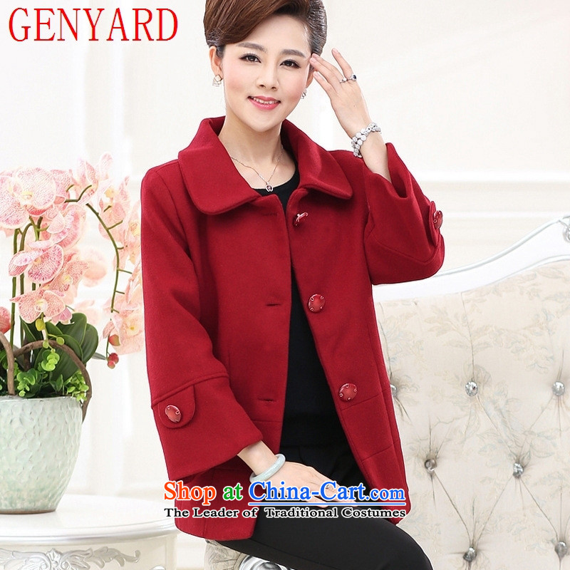 The elderly in the autumn and winter GENYARD boxed? jacket 40-50-60 gross-year-old middle-aged female boxed long-sleeved shirt mother woolen coats and color?2XL_ recommendations 110-125 catties_