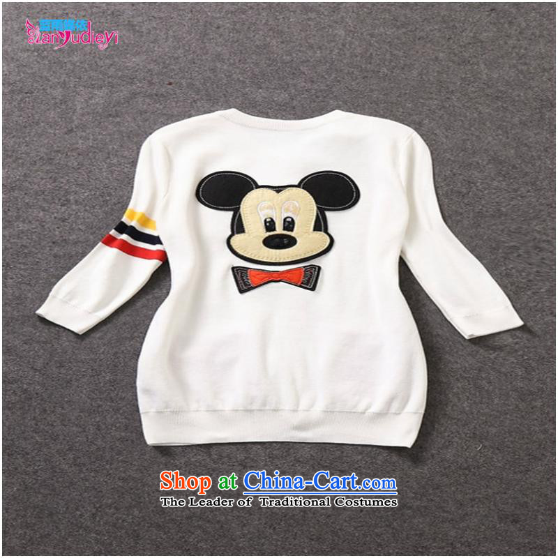 The Secretary for women involved in-store. New Products, Europe and the external trade of the 2014 autumn female Mickey stamp long-sleeved sweater knit shirts W319B3 Blue聽M Blue rain butterfly according to , , , shopping on the Internet
