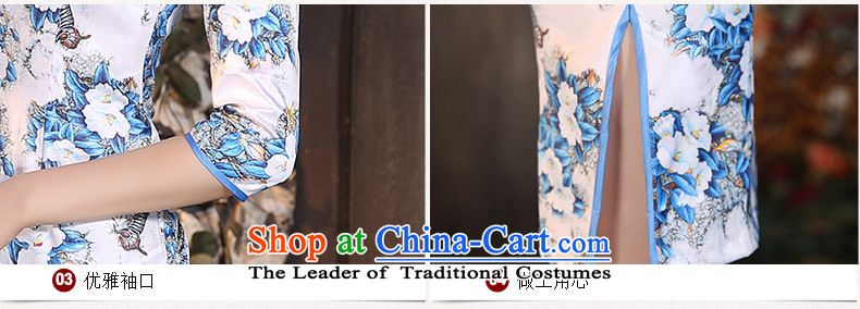 Yuan of cotton 2015 Autumn load toner qipao improved retro style qipao skirt in new long-sleeved qipao gown) picture color picture XL ZA9801, prices, brand platters! The elections are supplied in the national character of distribution, so action, buy now enjoy more preferential! As soon as possible.