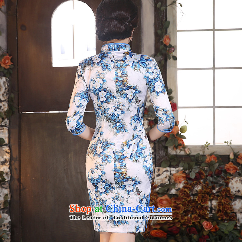 Yuan of cotton 2015 Autumn load toner qipao improved retro style qipao skirt in new long-sleeved qipao gown) color photo ZA9801 YUAN YUAN of XL, SU) , , , shopping on the Internet
