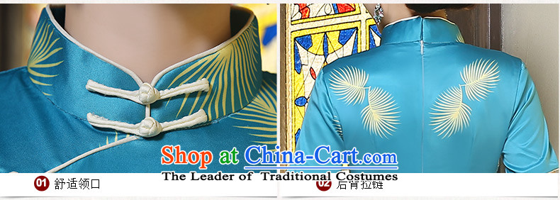 Yuan of聽autumn 2015 installed wind cheongsam long retro improvements in the skirt qipao long skirt cheongsam dress qipao Ms.聽ZA9802聽picture color聽pictures, prices, L brand platters! The elections are supplied in the national character of distribution, so action, buy now enjoy more preferential! As soon as possible.