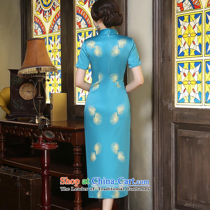 Yuan of聽autumn 2015 installed wind cheongsam long retro improvements in the skirt qipao long skirt cheongsam dress qipao Ms.聽ZA9802聽picture color聽pixel YUAN YUAN, L, SU) , , , shopping on the Internet