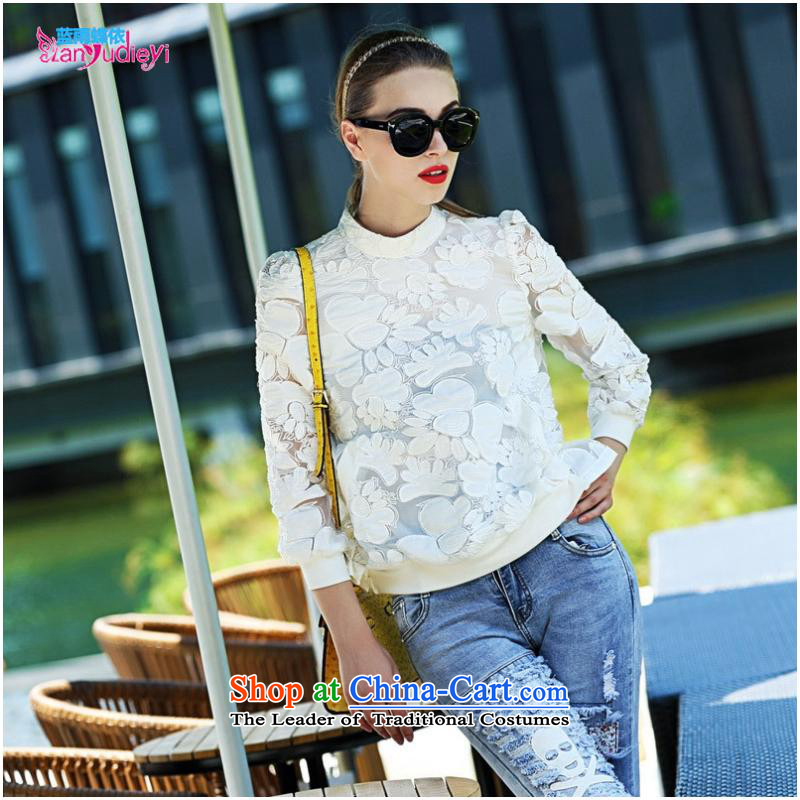 The Secretary for women involved in-store. Shenzhen women fall new western style and sexy put engraving embroidered clothes White?XL