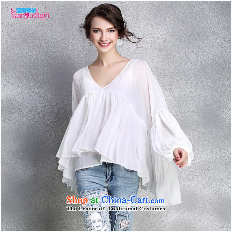 The Secretary for women shop .2015 involving new products for women clothes for larger women loose deep V-Neck lanterns cuff large flows of Netherlands, forming the CAMI white�S