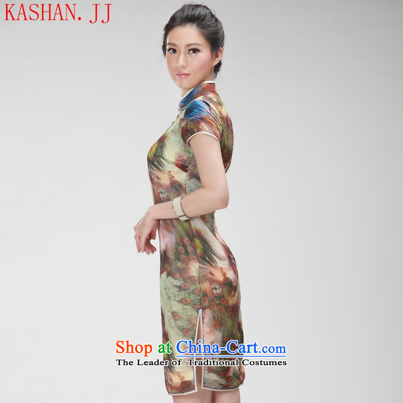Mano-hwan's new president summer stylish improved national wind retro cheongsam dress daily qipao khaki聽M Card Shan (KASHAN.JJ CHRISTMASTIME) , , , shopping on the Internet