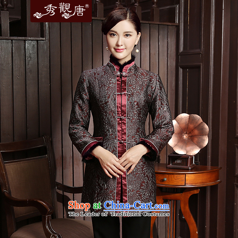 [Sau Kwun Tong] Qinyang Heung 2015 Fall/Winter Collections folder new cotton wool for the Chinese President Tang Jacket coat TC5811 Suit?M