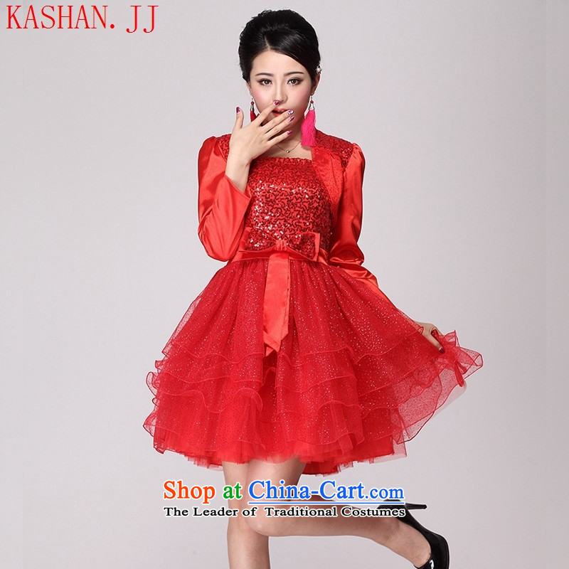 Mano-hwan's 2015 new cheongsam qipao gown updo marriage cheongsam dress red qipao red red?L