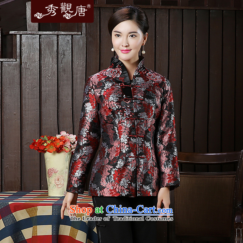 [Sau Kwun Tong] Cayman Ying 2015 Fall/Winter Collections Of Chinese Antique Ms. New Tang dynasty jacket coat TC5919 mother Suit?M