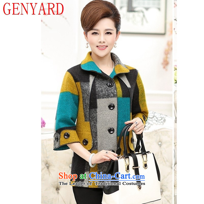 New Spring and Autumn GENYARD2015) women's gross is older. Large jacket cuff mother blouses red?XL
