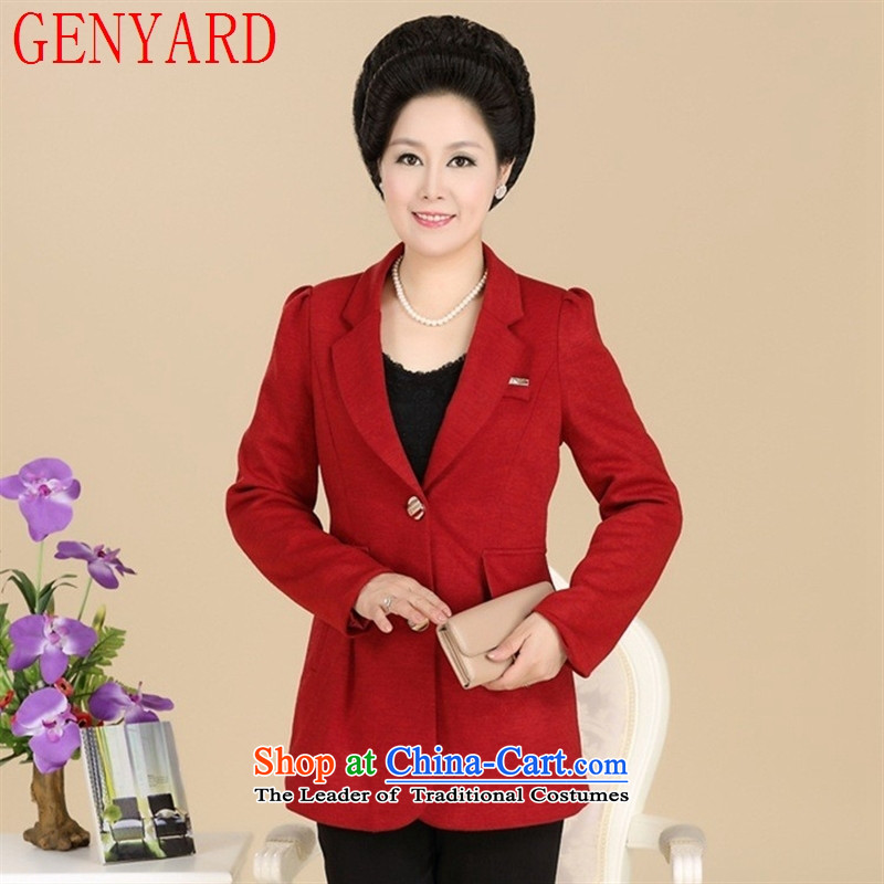 In the number of older women's GENYARD spring and autumn replacing middle-aged mother stylish casual female suits temperament black?XXXXL Sau San