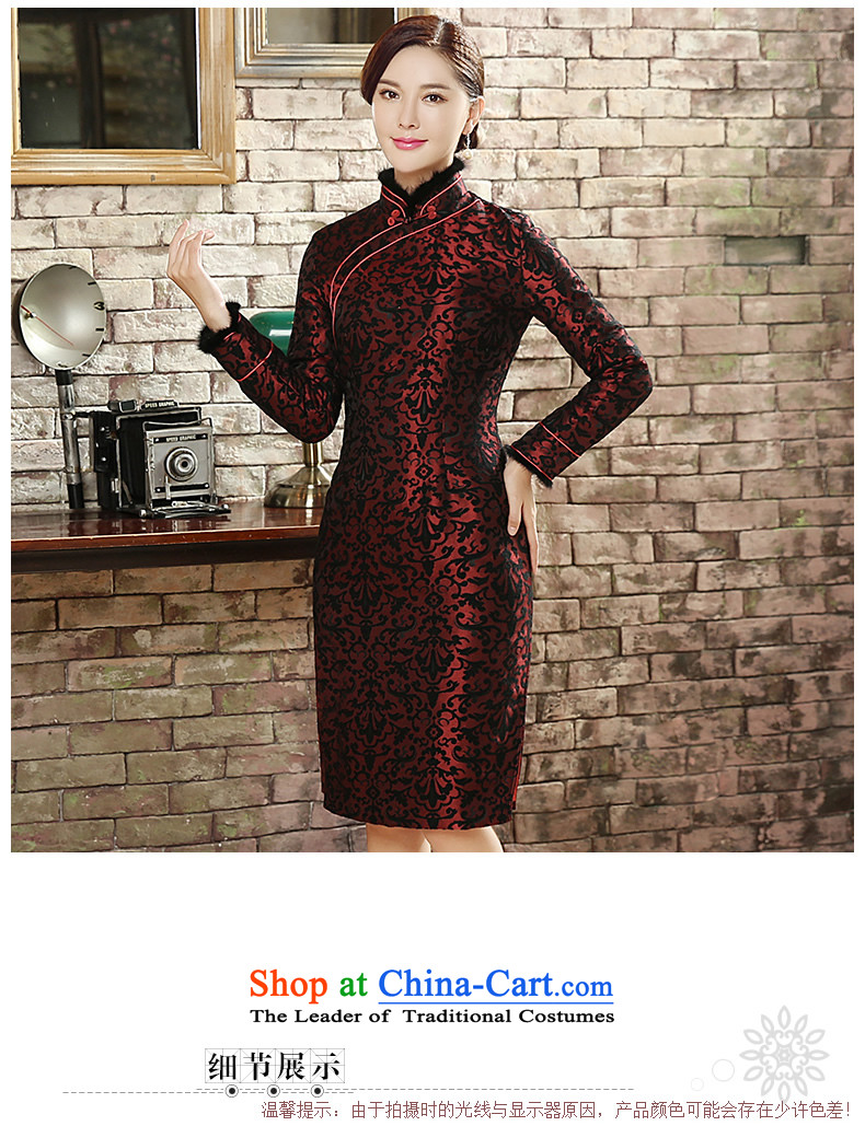 [Sau Kwun Tong] Sui Yue 2015 Fall/Winter Collections for the new gross long-sleeved retro stamp warm cheongsam dress suit XXL pictures, QC5820 price, brand platters! The elections are supplied in the national character of distribution, so action, buy now enjoy more preferential! As soon as possible.