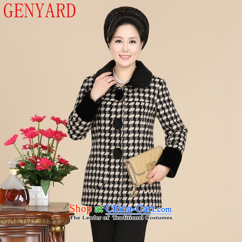 In the number of older women's GENYARD latticed jacket during the spring and autumn replacing middle-aged female stylish new large mother Code Red Jacket?XXXL gross?
