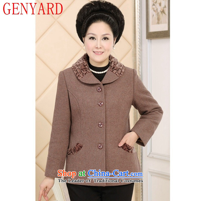 The autumn and winter GENYARD2015 new) women's gross is older large load mother coat grandma blouses red?XL
