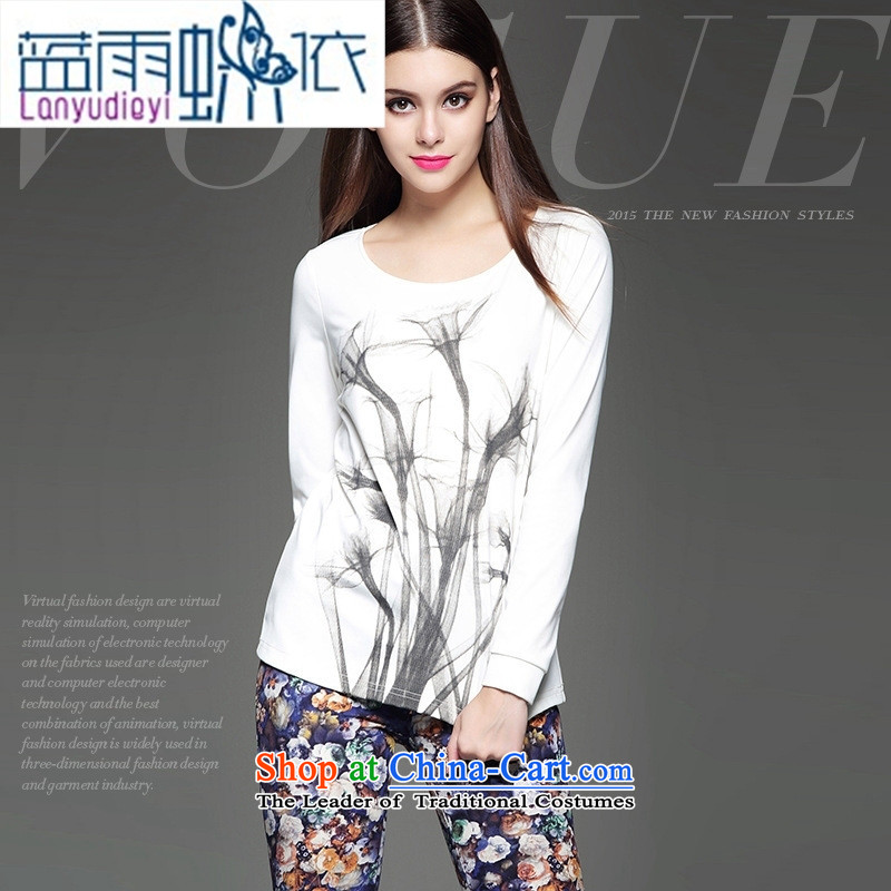 The European site autumn and winter new women's western modern, unobtrusive styling stamp Sau San wild shirt white S