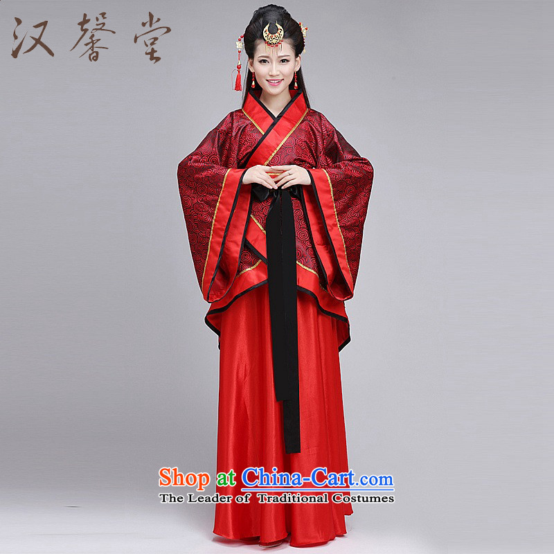 Han Xin Tong costume Han-Women's formal track civil Han-Tang dynasty improved wedding costumes red S