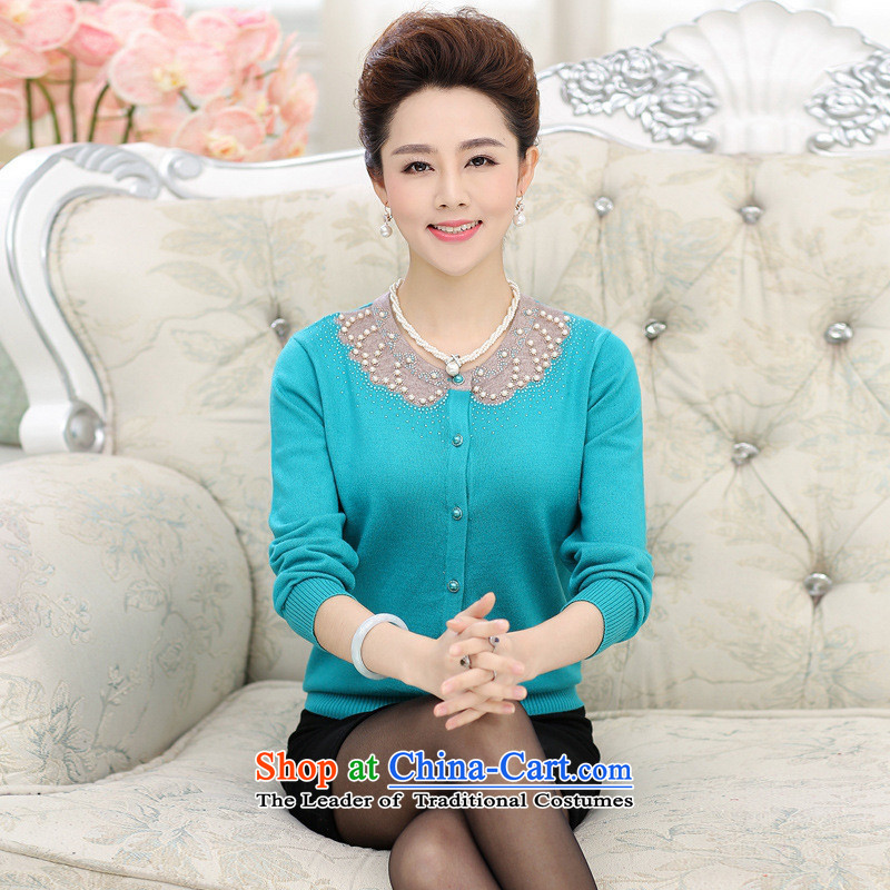The Secretary for Health concerns of older women shop * replacing autumn replacing cardigan middle-aged Knitted Shirt long-sleeved top female 40-50-year-old mother with autumn and winter coats red�L