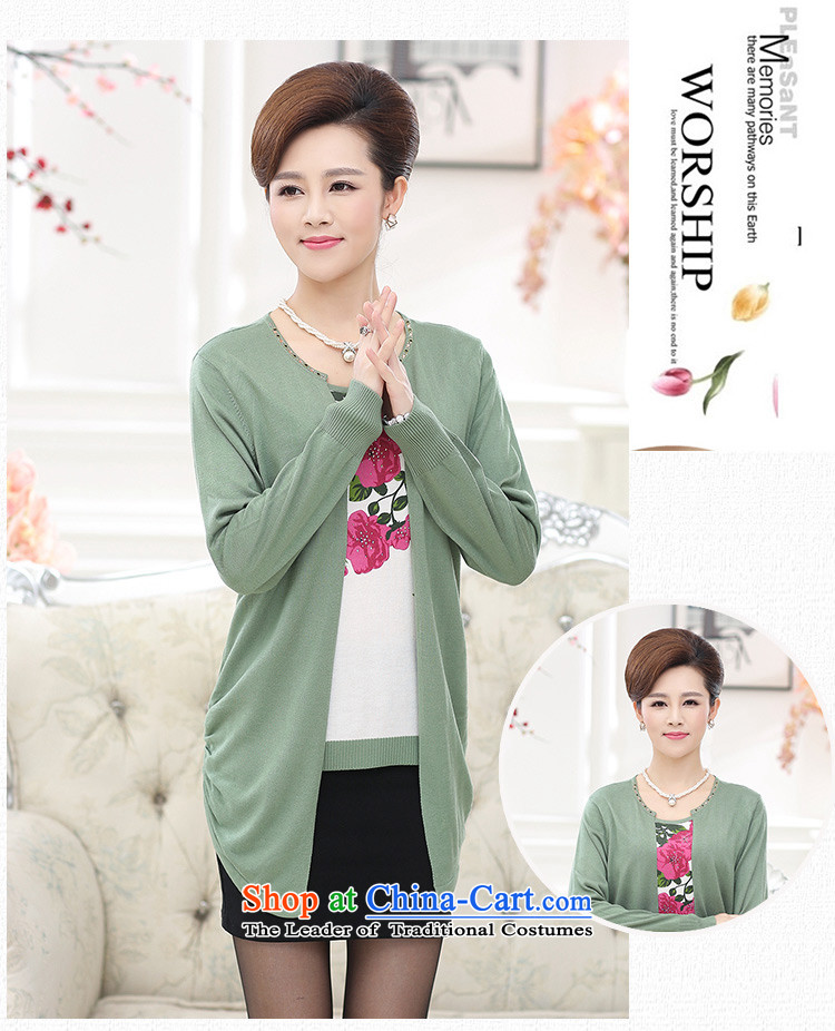 * The autumn and to store new) Older MOM pack large long-sleeved blouses and middle-aged two leave during the spring and autumn pieces of knitted jackets in Red聽2XL Photo, prices, brand platters! The elections are supplied in the national character of distribution, so action, buy now enjoy more preferential! As soon as possible.