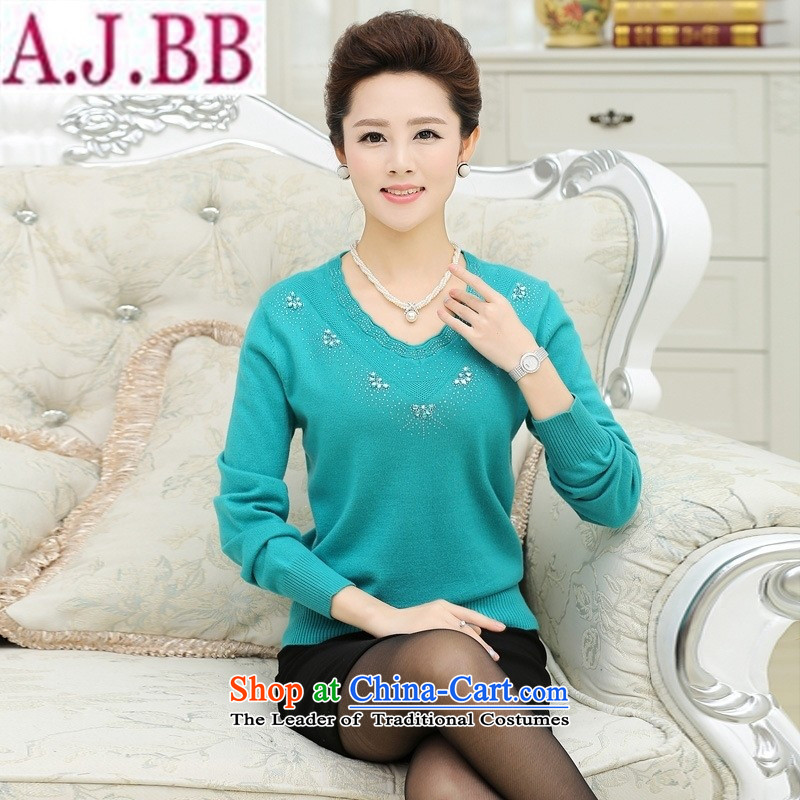 The Secretary for Health related shop _ middle-aged moms with large numbers of autumn and winter sweater in older women wear long-sleeved knitting forming the load autumn red shirt�L_ recommendations 140-160 characters catties_