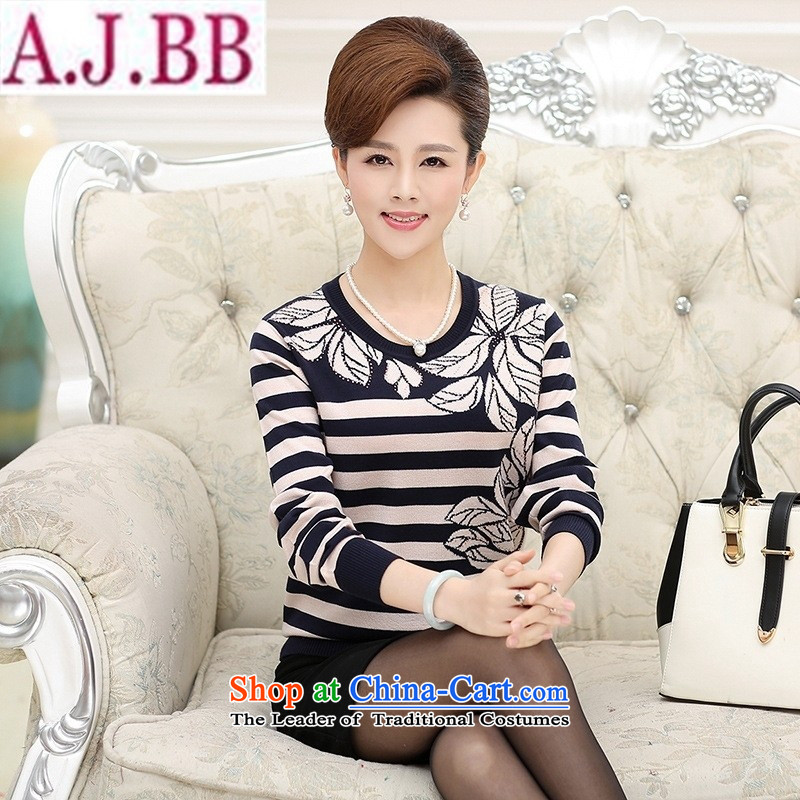 The Secretary for Health related shop _ Mother replacing wear long-sleeved shirt streaks in the autumn in spring and autumn women older middle-aged women Knitted Shirt autumn blouses pink燣 recommendations 90-120 catties_