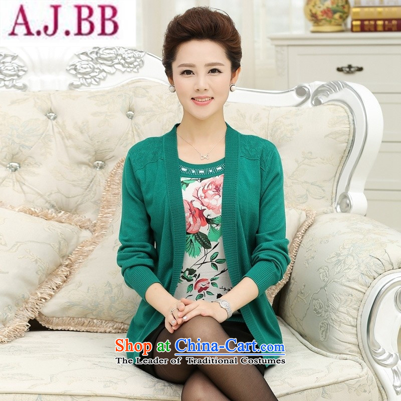 * The autumn and to store new products in the autumn of replacing mother with older summer stamp leave two long-sleeved T-shirt with round collar Knitted Shirt wholesale pink�2XL( recommendations 140-160 characters catties)