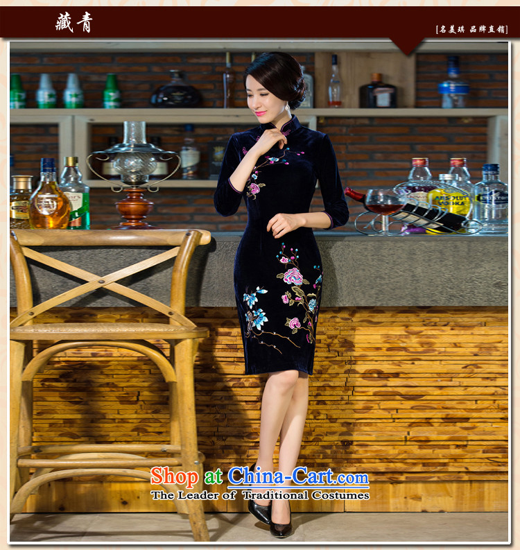 Ya-ting shop 2015 autumn and winter new moms with scouring pads in the skirt qipao Kim sleeve length) Improved retro wedding purple聽L picture, prices, brand platters! The elections are supplied in the national character of distribution, so action, buy now enjoy more preferential! As soon as possible.