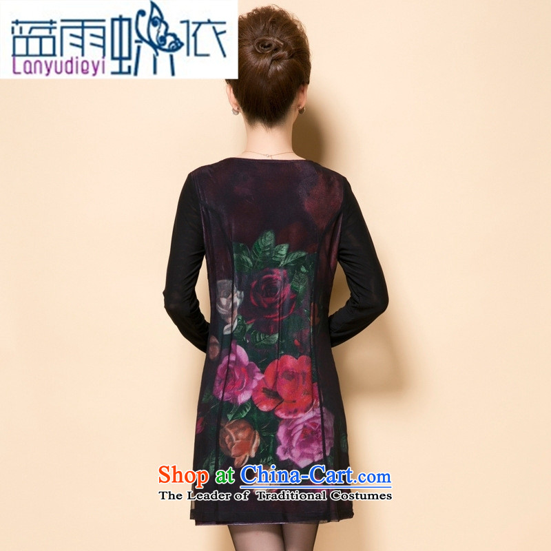Shop 2015, Ya-ting autumn in new stylish and elegant of thoughtful older spend with mother Sau San dresses large black L