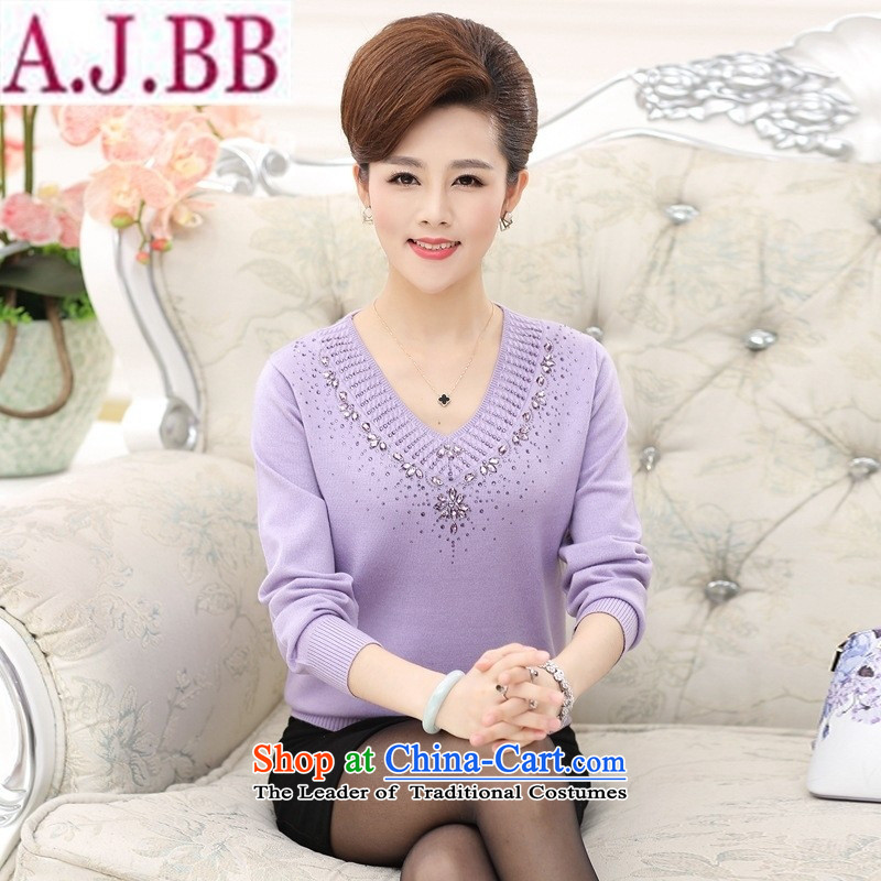 The Secretary for Health concerns of older women shop _ replacing V-Neck knitted shirts, forming the hedging of the middle-aged long-sleeved sweater mother and replace colors with autumn燲L_ recommendations 120-140 catties_