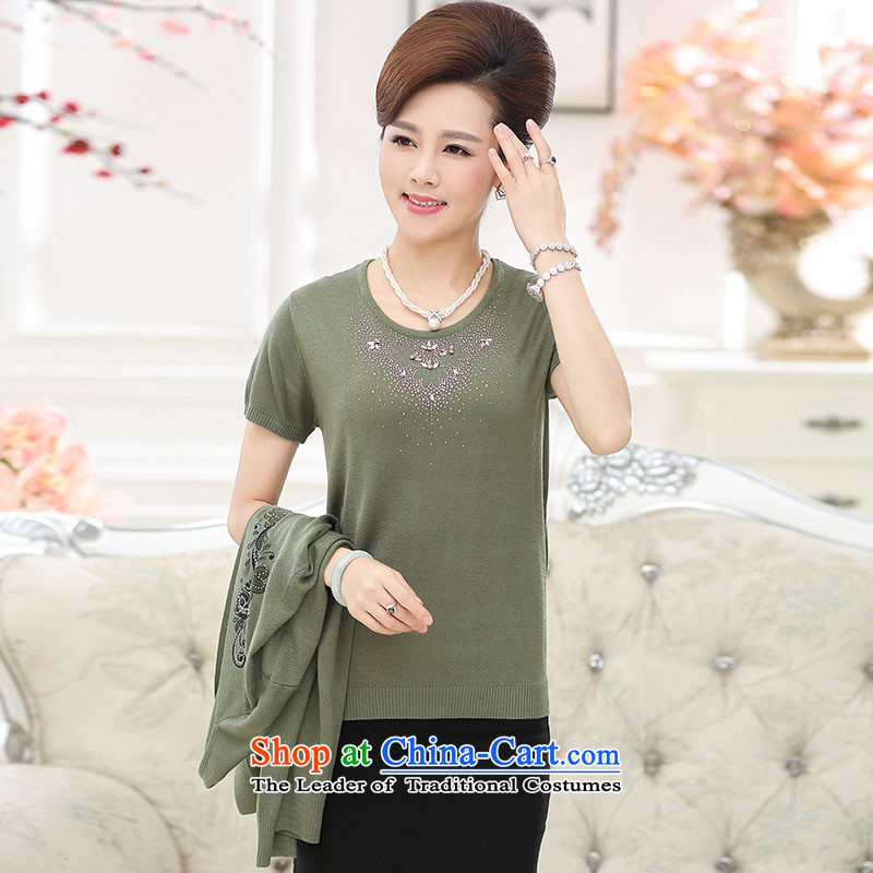 * The autumn and involve shop boxed-forming the new women's clothes in older mother sweater Ms. loose stamp t-shirt long-sleeved really two kits yellow�L